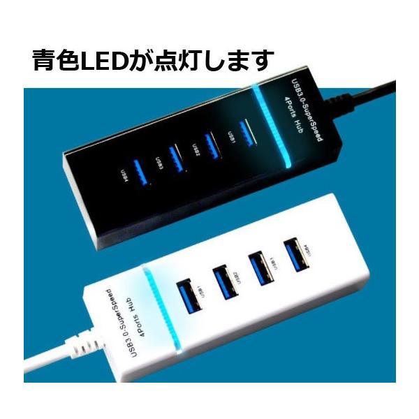 4ポート USBハブ 高速 USB3.0対応 USB2.0/1.1 互換  HUB モバイル バスパワー コンパクト パソコン R1026-JH eightray-shop 02