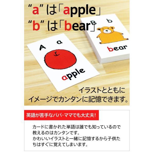 英語絵カード アルファベット 26枚セット 正規販売店 英語 カード トランプ サイズ 子供用|eigoden|03