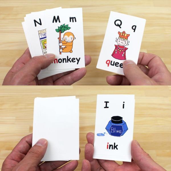 英語絵カード アルファベット 26枚セット 正規販売店 英語 カード トランプ サイズ 子供用|eigoden|06