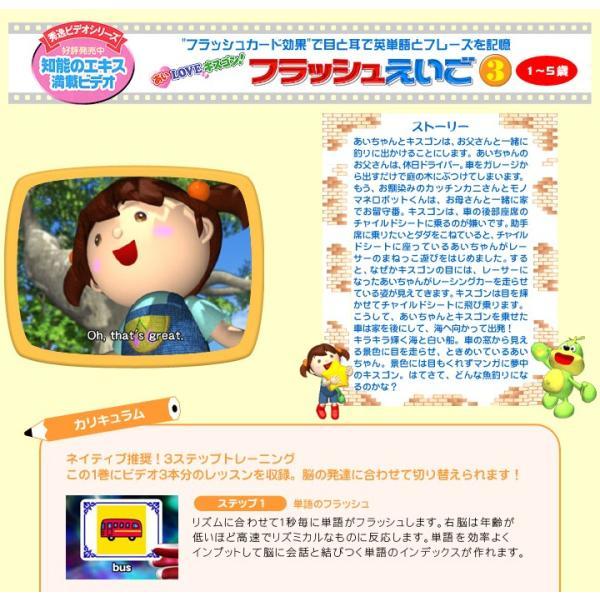 幼児英語 DVD フラッシュえいご DVD3巻 CDセット 子供 幼児 英会話教材 英語教材 子供用|eigoden|04