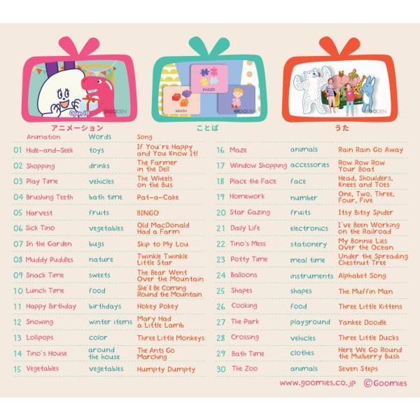 幼児英語 DVD Goomies English for Kids 送料無料 グーミーズ 歌 童謡 英単語 英語の歌 アニメ 英語教材 おもちゃ 1歳 2歳 3歳 4歳 5歳 6歳|eigoden|18