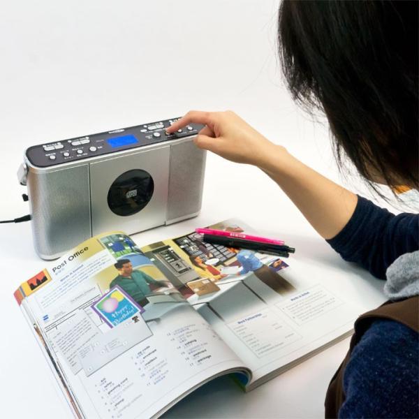 CDプレーヤー 学習用 マナヴィ Manavy 正規販売店  CDラジオ|eigoden|08