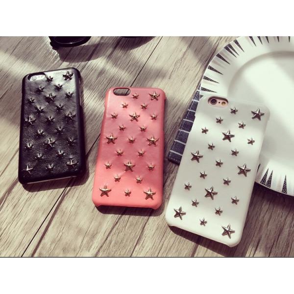 07ce634915 星型スタッズアイフォンケース スマホケース iPhone6 iphone6s iphone7iPhone8 スマホカバー レザー調 ハードケース ...