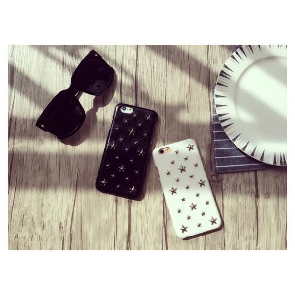 90768248e9 ... 星型スタッズアイフォンケース スマホケース iPhone6 iphone6s iphone7iPhone8 スマホカバー レザー調  ハードケース 星| ...