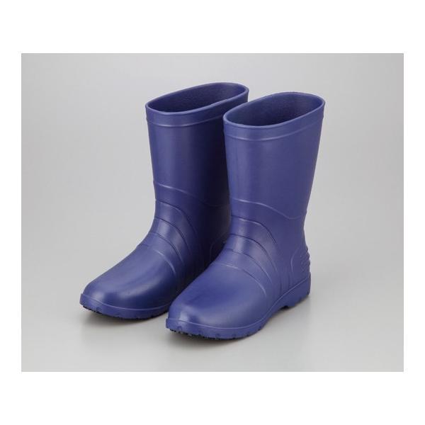 アズワン サニフィット耐油長靴 青 女性用 25.0cm (2-3810-03)