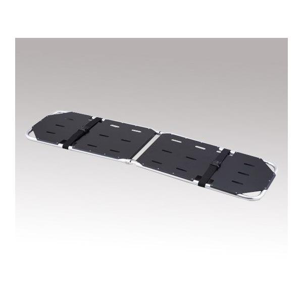 折りたたみ担架 YDC-1A4H 黒 500×1850×50mm 7.0kg (8-2252-12)
