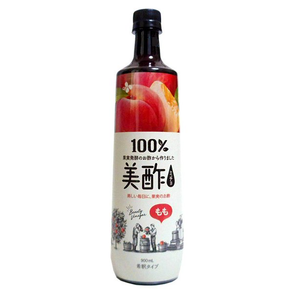 ★まとめ買い★ CJ 美酢(ミチョ)もも 900ml ×12個【K-FOODフェア2021飲料】【イージャパンモール】