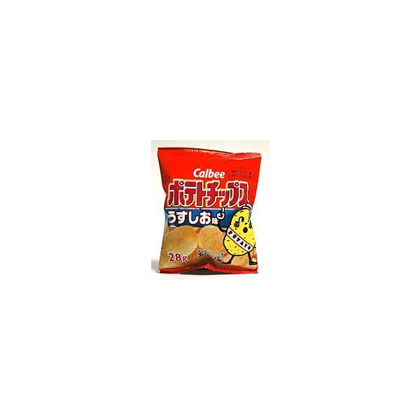 ★まとめ買い★ カルビー ポテトチップス うすしお味 28g ×24個【イージャパンモール】