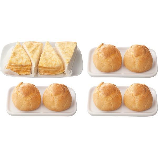 【送料無料】北海道ミルクレープ&シュークリームセット【代引不可】【ギフト館】