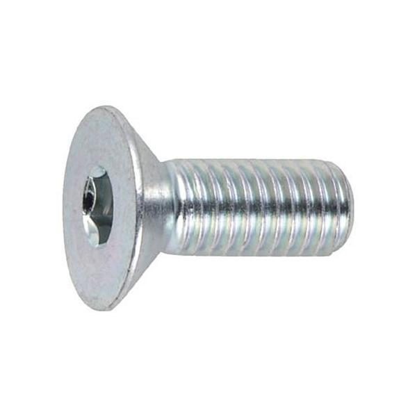 TRUSCO 三価クロメート(白) 六角穴付皿ボルト 寸法M8×25mm 1パック(10本)