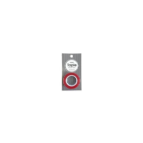 寺岡製作所 かわいい養生テープ「Taple」 赤15mmx5m【ホームセンター・DIY館】