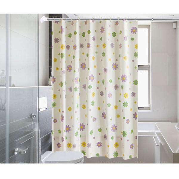 シャワーカーテン バスルーム 洗面所 バス用品 お風呂 カーテンリング付属 速乾性 防水素材 目隠し|ejej-shopping|02