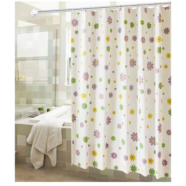 シャワーカーテン バスルーム 洗面所 バス用品 お風呂 カーテンリング付属 速乾性 防水素材 目隠し|ejej-shopping|04