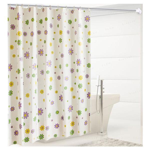 シャワーカーテン バスルーム 洗面所 バス用品 お風呂 カーテンリング付属 速乾性 防水素材 目隠し|ejej-shopping|05