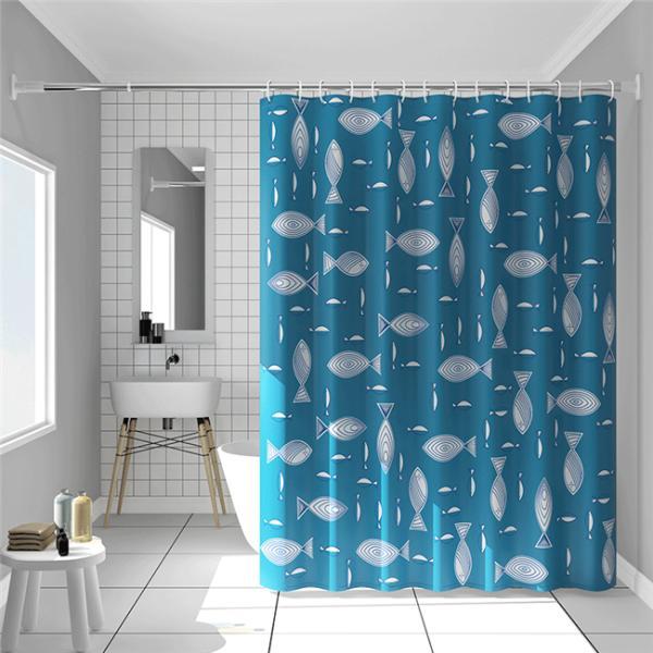 シャワーカーテン バスルーム 浴室 間仕切り バス用品 カーテンリング付属 防水素材 速乾性 撥水加工 透けない オシャレ|ejej-shopping|02