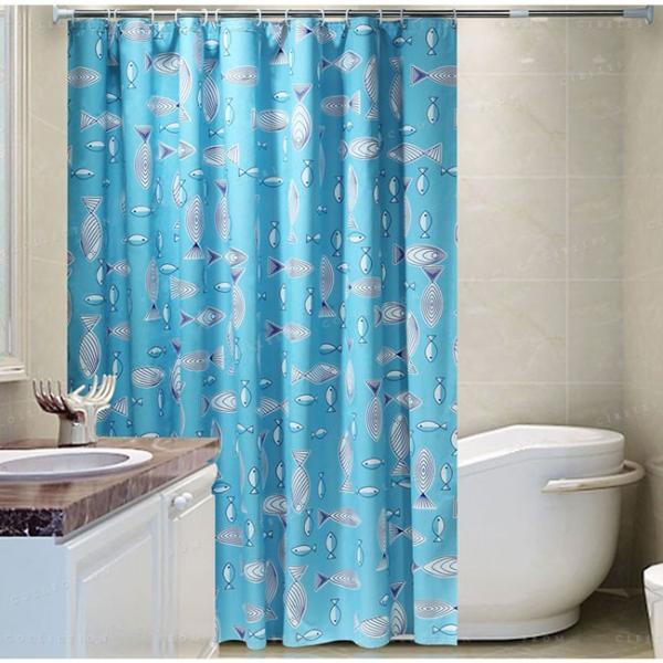シャワーカーテン バスルーム 浴室 間仕切り バス用品 カーテンリング付属 防水素材 速乾性 撥水加工 透けない オシャレ|ejej-shopping|03