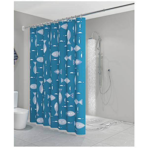 シャワーカーテン バスルーム 浴室 間仕切り バス用品 カーテンリング付属 防水素材 速乾性 撥水加工 透けない オシャレ|ejej-shopping|05