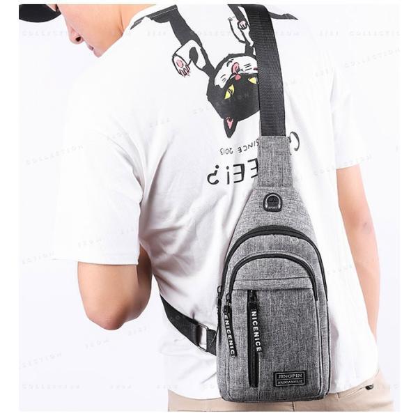 バッグ メンズ ボディバッグ メンズ ワンショルダー ボディーバッグ メンズ 斜めがけおしゃ 軽量13mkb19mar01|ejej-shopping|06