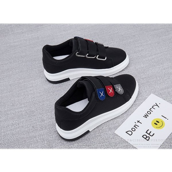 スニーカー シューズ 靴 マジックテープ レディースファッション 厚底 シンプル カラー 大きいサイズ 可愛い カジュアルスタイル