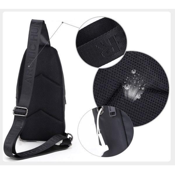 ボディバッグ メンズ ショルダーバッグ アウトドア ワンショルダー 防水 軽量|ejej-shopping|09
