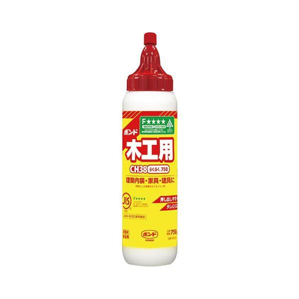 KONISHI ボンド 木工用 CH18 らくらく750 #40167(コニシ 接着剤 のり 糊 エフフォースター 安全 工作 手芸 家具 合板 壁