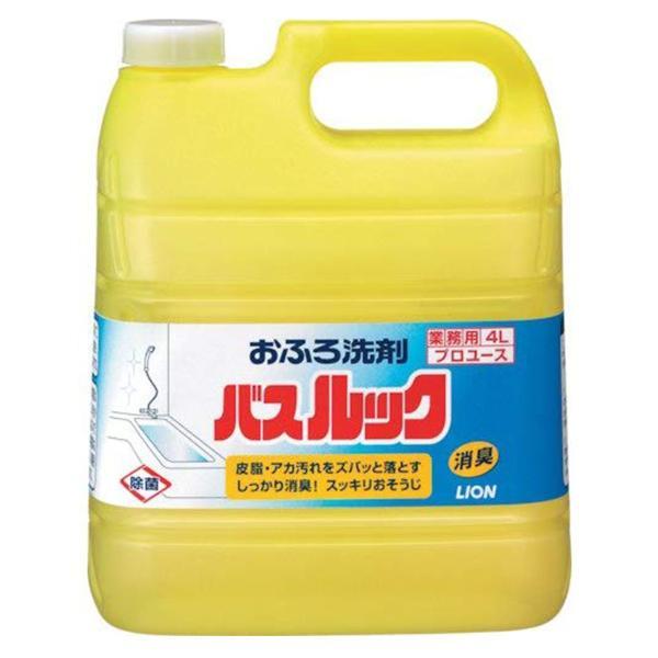 ライオン バスルック 4L 業務用 お風呂 洗剤 プロユース レモン 浴槽 洗面台 防カビ ニオイ すっきり