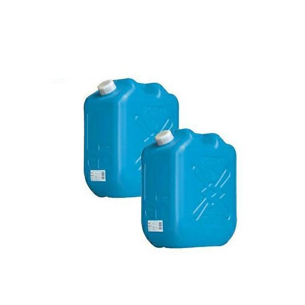 土井金属化成 灯油缶 18L ブルー 2個セット(ポリタンク 青 18リットル JISマーク JIS規格 灯油 ファンヒーター/ストーブに)