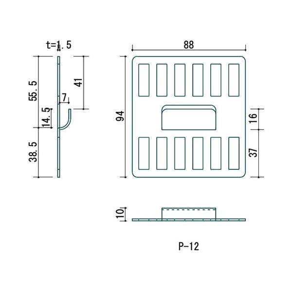 壁美人 石膏ボード用金具 P-12 2枚セット P-12Sh 静止荷重18kg 壁掛け金具