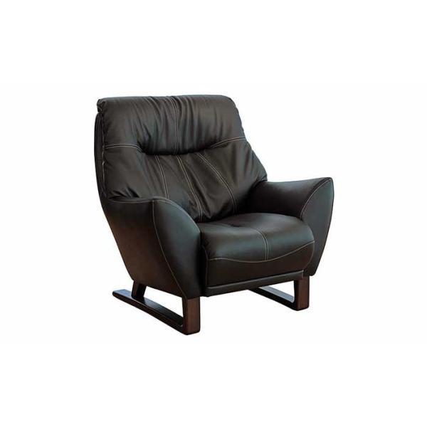 厳選国産 Adler 1P アドラー 1人用 ソファー スムース調革張り W910×D920×H930×SH410 革色・木部色が選べる 受注生産|ekaguya|02