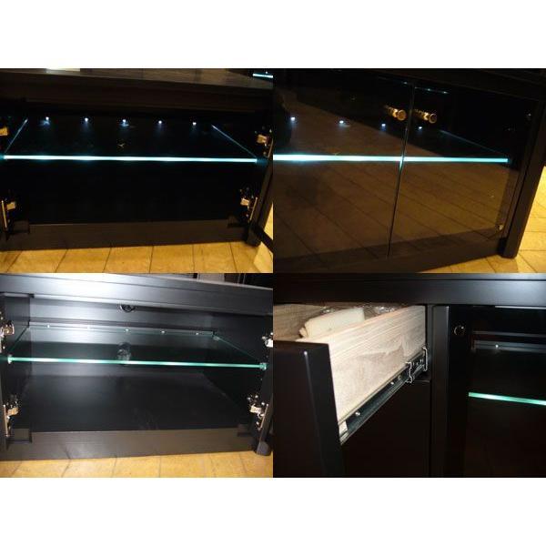 光るガラス棚 B,B160 AV Board B,B160ローボード W1570×D440×H400 大川製|ekaguya|03