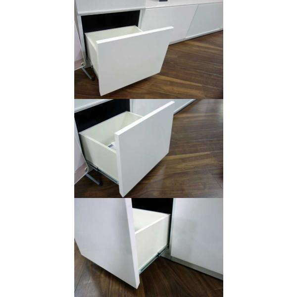 Luzz RW色 総幅2230×高850×奥行445 ルッツTV180+キャビ ロイヤルホワイト色 UV塗装|ekaguya|12