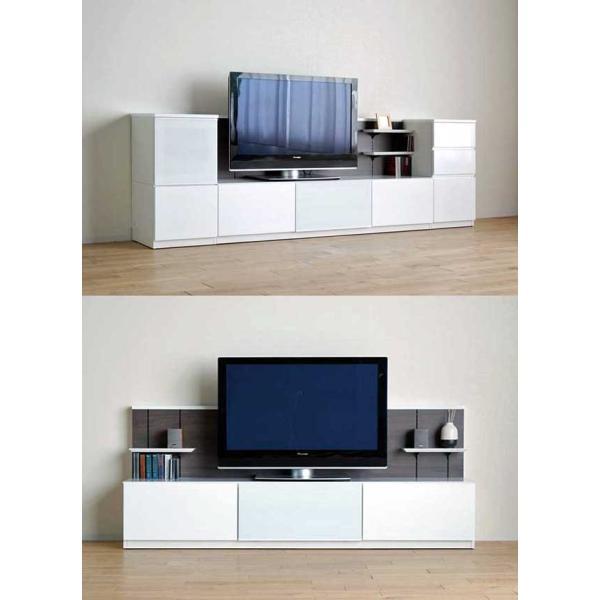 Luzz RW色 総幅2230×高850×奥行445 ルッツTV180+キャビ ロイヤルホワイト色 UV塗装|ekaguya|15