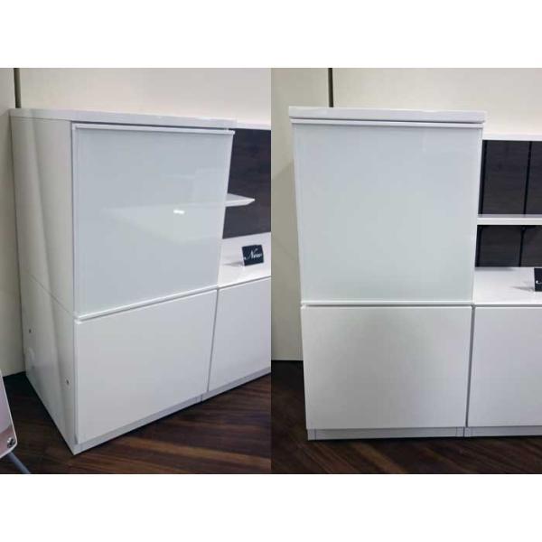 Luzz RW色 総幅2230×高850×奥行445 ルッツTV180+キャビ ロイヤルホワイト色 UV塗装|ekaguya|10