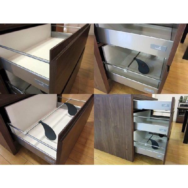 ミーア120カウンターテーブル ウォールナット Mia120RN CounterTable W120×D80×H85|ekaguya|04