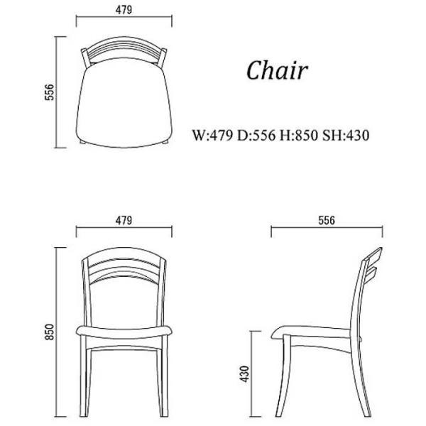 シャム Dテーブル160HB/UG+椅子6脚 W1610×D860×H700 GUV塗装ヒッコリーブラック 張生地パッカー 受注生産Siamese|ekaguya|10