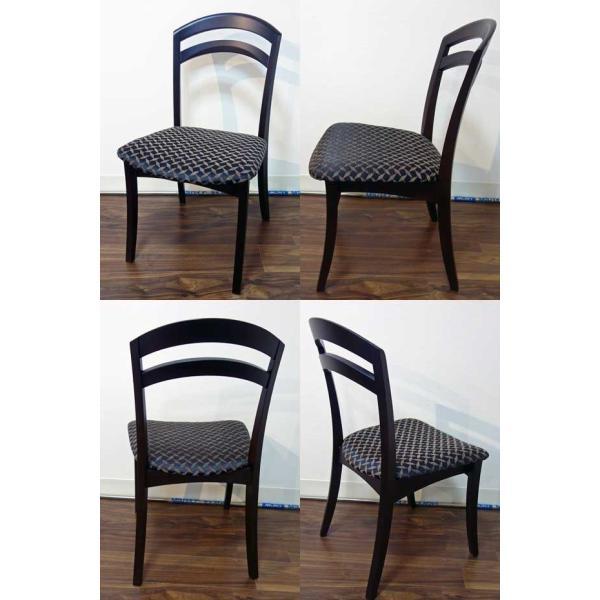 シャム Dテーブル160HB/UG+椅子6脚 W1610×D860×H700 GUV塗装ヒッコリーブラック 張生地パッカー 受注生産Siamese|ekaguya|11