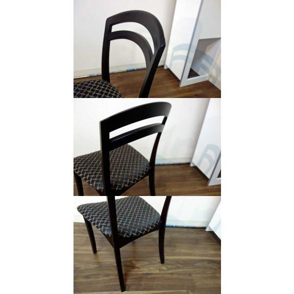 シャム Dテーブル160HB/UG+椅子6脚 W1610×D860×H700 GUV塗装ヒッコリーブラック 張生地パッカー 受注生産Siamese|ekaguya|12