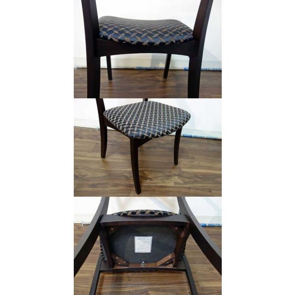 シャム Dテーブル160HB/UG+椅子6脚 W1610×D860×H700 GUV塗装ヒッコリーブラック 張生地パッカー 受注生産Siamese|ekaguya|13