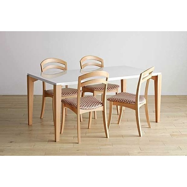 シャム Dテーブル160HB/UG+椅子6脚 W1610×D860×H700 GUV塗装ヒッコリーブラック 張生地パッカー 受注生産Siamese|ekaguya|14