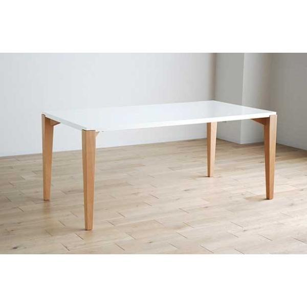 シャム Dテーブル160HB/UG+椅子6脚 W1610×D860×H700 GUV塗装ヒッコリーブラック 張生地パッカー 受注生産Siamese|ekaguya|16
