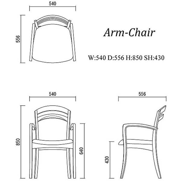 シャム Dテーブル170HB/UG+肘付椅子4脚 W1710×D860×H700 GUV塗装ヒッコリーブラック 張生地パッカー 受注生産Siamese ekaguya 10