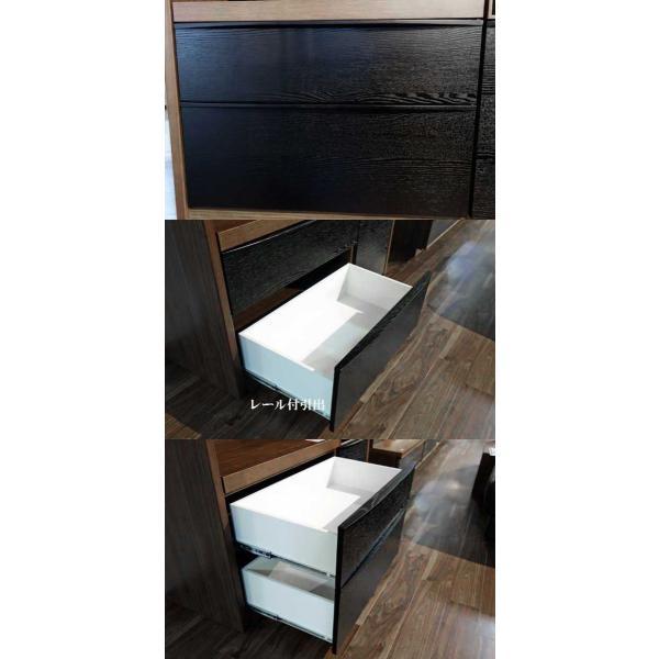UNIK ユニックレンジ126BL/CH ブラック/ショコラ W1260×D462×H2000 タモ材 家具産地大川製|ekaguya|10