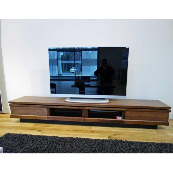 ウォールナット材 ZIO240TVブラウン ジオ240TV RN色 W2400×D445×H355 家具産地大川製 ekaguya