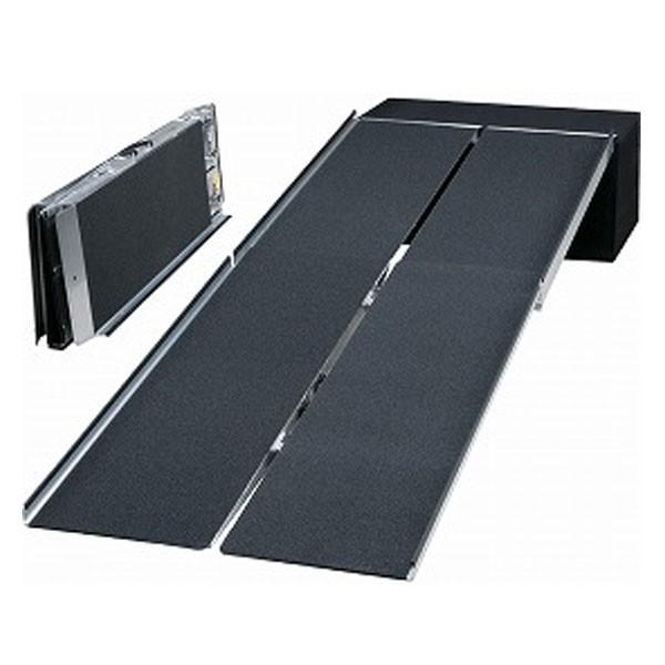 (代引き不可)イーストアイ ポータブルスロープ アルミ4折式タイプ PVW210 長さ213cm 介護用品