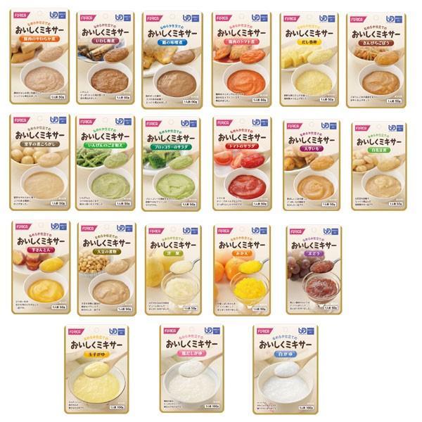 介護食 おかず デザート セット 区分4 かまなくてよい おいしくミキサー 20種類セット ホリカフーズ 介護用品