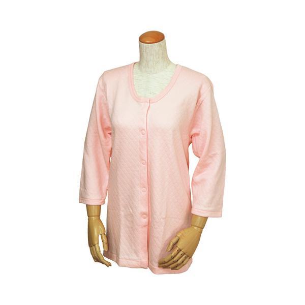 婦人 キルト 八分袖 前開きシャツ (ワンタッチテープ式)W461 S M L ウエル (介護 肌着) 介護用品