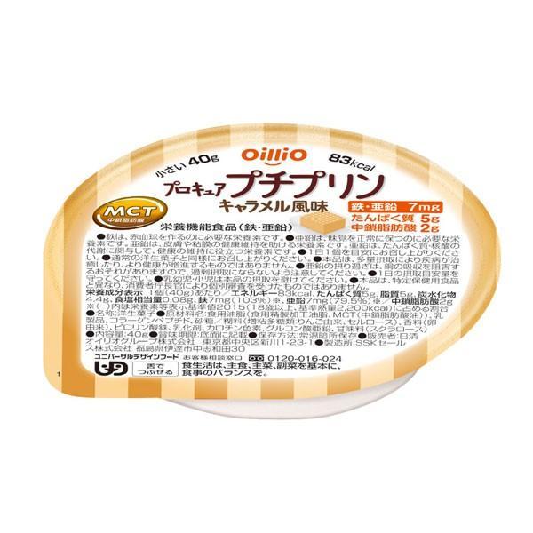 介護食 舌でつぶせる プロキュアプチプリン キャラメル風味 40g 日清オイリオグループ 高カロリー たんぱく質 栄養補給 介護用品