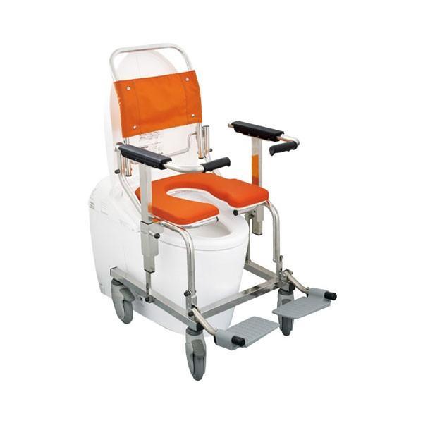 (代引き不可) シャワーキャリー AH-PG No.6722 (4輪) 樹脂ダブルロック 睦三 介護用品