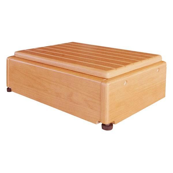 玄関台(木製) 昇降45W-30 640-050 (幅45×奥行30×高さ15〜22.5cm・4段階)  シコク  (玄関 踏み台 木製 転倒防止 ステップ)  介護用品