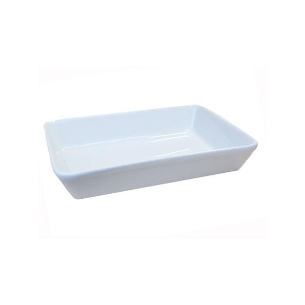 ラザニア用角鉢 ホワイト 26.3cm 日本製 業務用 食器 大きくて深い パーティーの主役!!